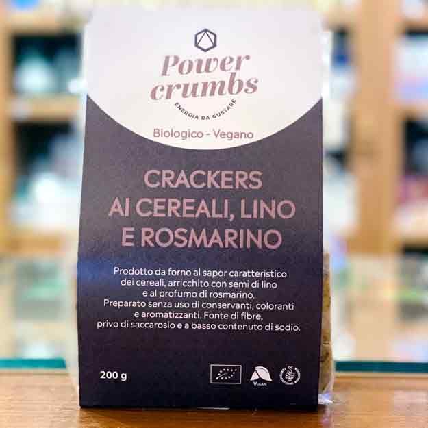 Crackers Cereali, Lino E Rosmarino Bio E Vegan
